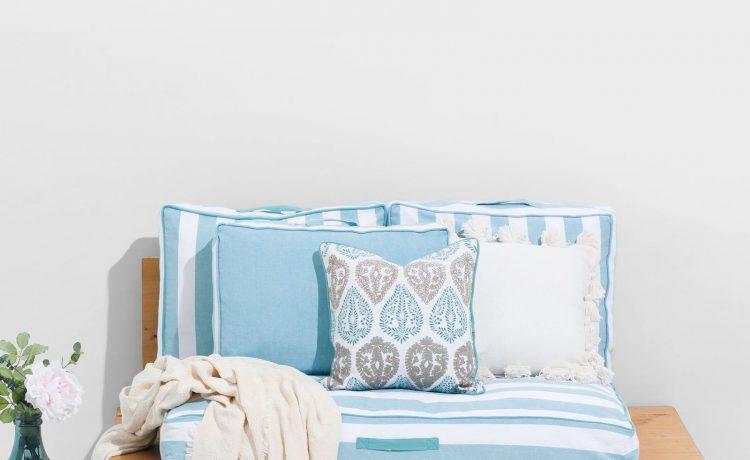 Textura Palletkussen Sofray Blauw